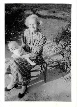 Grandma Sallie Holding Me