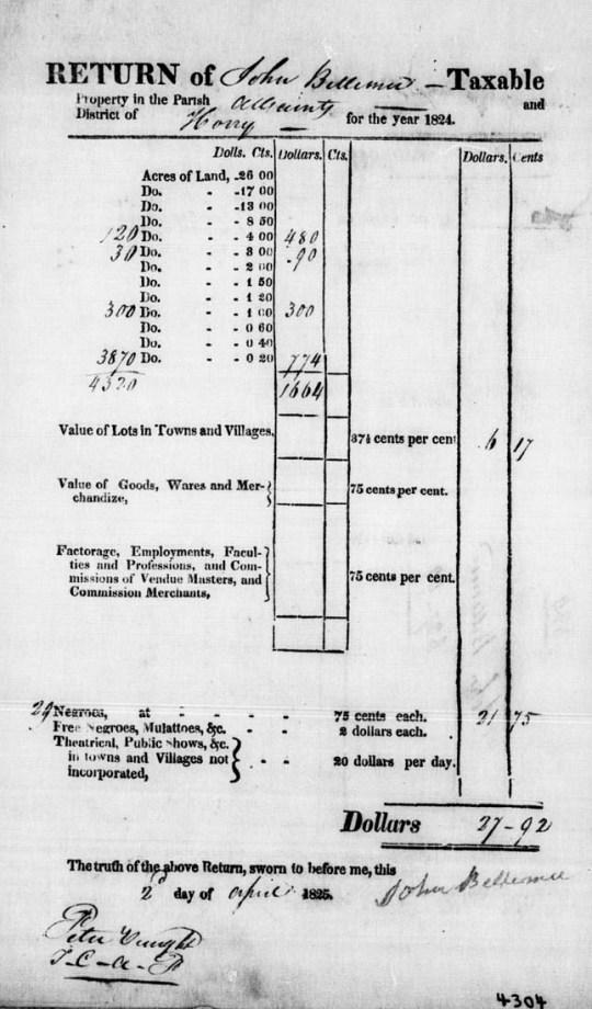 John Bellemee Tax